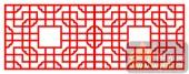 镂空装饰单式001-文梁-镂空装饰单式001-014-镂空屏风效果图