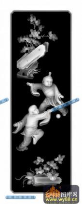 百子图001-童趣-32-浮雕灰度图