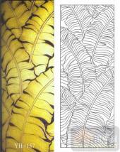 雕刻玻璃-肌理雕刻系列1-金色芭蕉-00157