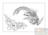 01传统系列-凤凰-00048-喷砂玻璃图库