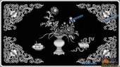 03-古典花纹-070-花鸟灰度图