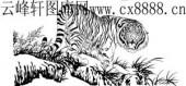 虎第四版-矢量图-虎超龙骧-20-虎雕刻图案