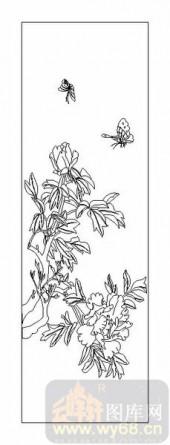 04花草禽鸟-牡丹花-00057-玻璃门