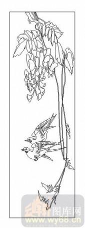 04花草禽鸟-燕子-00081-玻璃雕刻