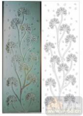 2011设计艺术玻璃刻绘-节节高-XC-507-玻璃雕刻