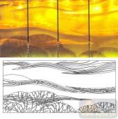 04肌理雕刻系列样图-旷野-00216-雕刻玻璃图案