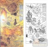 艺术玻璃图-肌理雕刻系列1-龙凤-00016