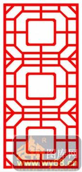 镂空装饰单式002-方形花纹-镂空装饰单式002-019-镂空雕刻图片下载