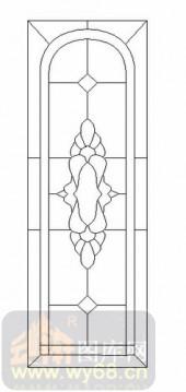 雕刻玻璃-12镶嵌-几何花纹-00019