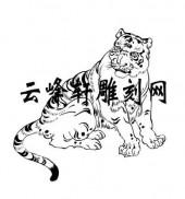 虎2-矢量图-降龙伏虎-69-虎雕刻图片