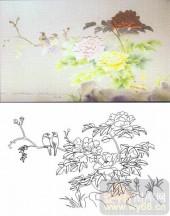 07精雕冰凌系列样图-富贵牡丹-00004-喷砂玻璃图库