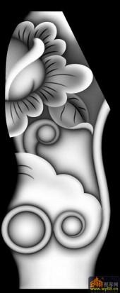 花纹 鸡翅长城床椅脚-浮雕图案