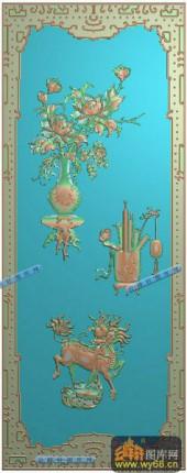 04-祥瑞-051-花鸟浮雕灰度图