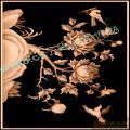 花鸟牡丹床-高清精雕图
