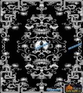 鱼图-双鱼-013-蝙蝠鱼精雕灰度图
