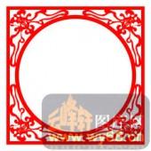 中式镂空装饰001-蝙蝠花纹-中式镂空装饰001-019-镂空雕花板