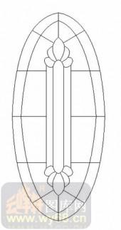玻璃门-12镶嵌-艺术花纹-00008