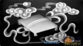 古董架002-围棋-015-古董架浮雕灰度图