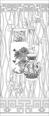 竖板334,花瓶