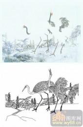 28人及动物-鹤啸-00007-喷砂玻璃