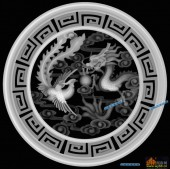 龙凤图-龙凤呈祥-013-雕刻灰度图