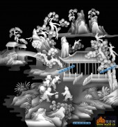百子图002-童趣-2454-浮雕灰度图