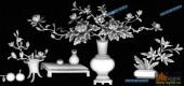 03-花瓶-068-花鸟灰度图