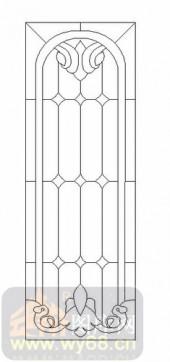 艺术玻璃图-12镶嵌-几何花纹-00024