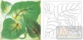 喷砂玻璃-肌理雕刻系列1-绿意-00108