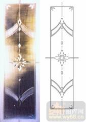 玻璃门-浮雕贴片-牵牛花-00049