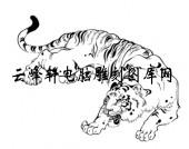 虎1-矢量图-虎头虎脑-13-虎全图
