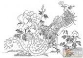 凤-白描图-雏凤清声-huangf013-凤图案