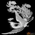 凤凰-浮雕灰度图