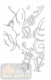 喷砂玻璃图库-11门窗组合-抽象图案-00085
