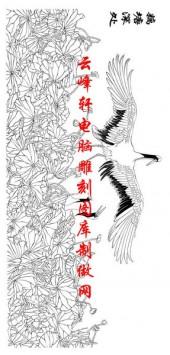 长卷鹤-矢量图-藕塘深处-仙鹤雕刻图片