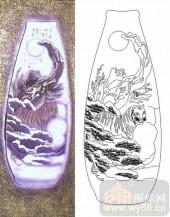 喷砂玻璃-肌理雕刻系列1-下山虎-00060