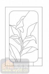 玻璃门-12镶嵌-艺术花纹-00007
