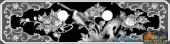 02-花开富贵-051-花鸟灰度图案