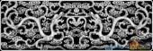 草龙-二龙戏珠-068-雕刻灰度图