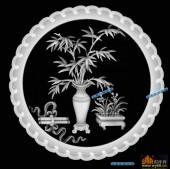 圆盘雕图灰度图-023-墨香-006-圆盘雕图灰度图