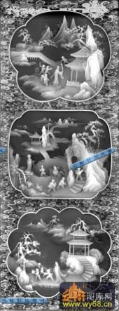 01-农家乐-088-玉雕灰度图