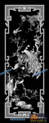 01-百鸟之王-014-花鸟灰度图