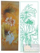 2011设计艺术玻璃刻绘-双鸟-喷砂玻璃图库