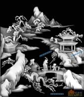 综合-出游-1拷贝-琴棋书画浮雕灰度图
