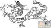 龙-白描图-虎卧龙跳-long36-龙线描图