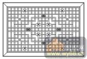 镂空装饰组合式-小方格-镂空装饰组合式-014-镂空矢量图