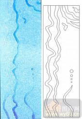 05肌理雕刻系列样图-波浪线-00055-玻璃门