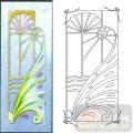 02装饰门-2-孔雀尾-00208-艺术玻璃