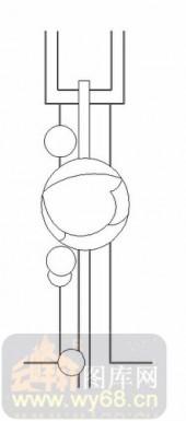 雕刻玻璃-11门窗组合-球形-00062