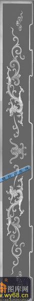 办公桌003-龙纹-006-办公桌雕刻灰度图